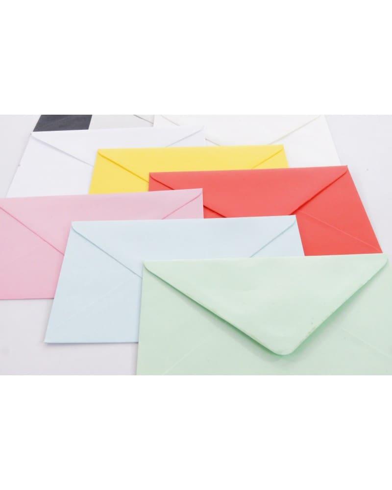 Koperty  gładkie biale i kolorowe C6 114x162mm