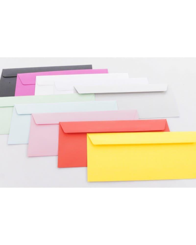 Koperty  gładkie białe i kolorowe DL 110x220mm